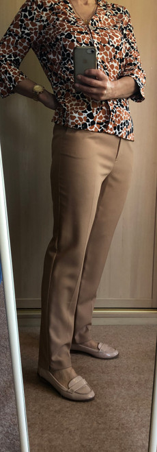 EX CHAIN STORE CAMEL TAPERED TROUSERS