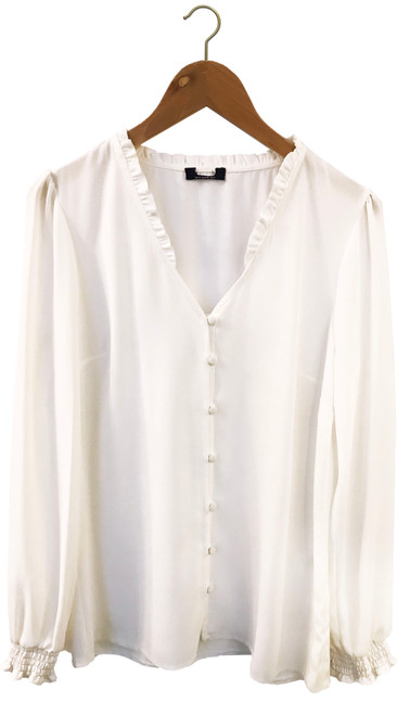 White Frill Collar Blouse