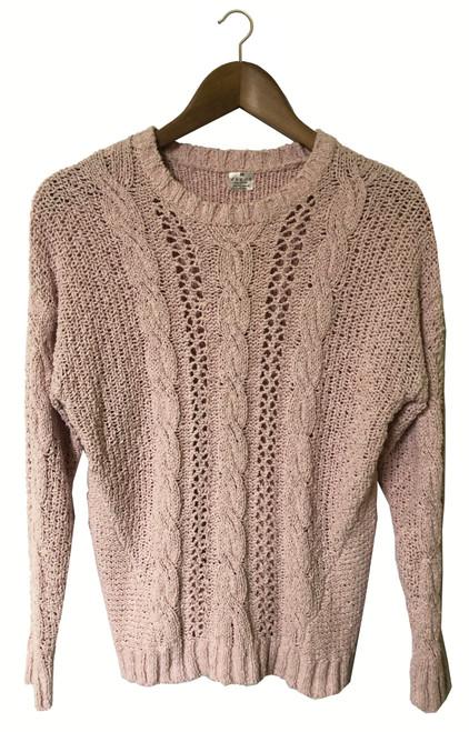 Pink Crinkle Wool Jumper