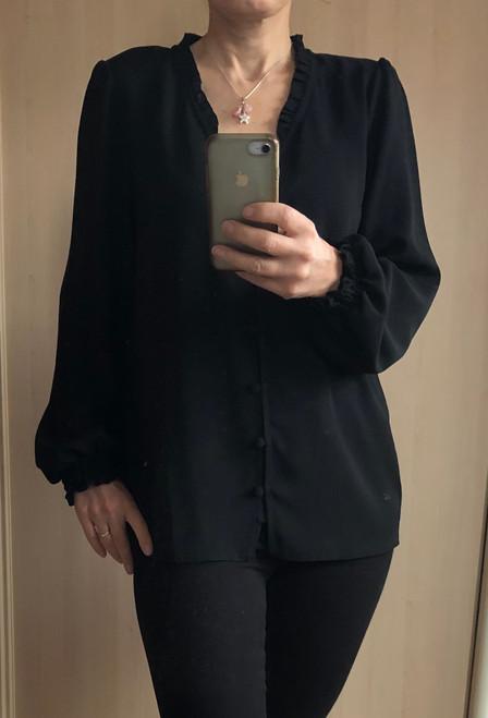 Black Frill Neck blouse