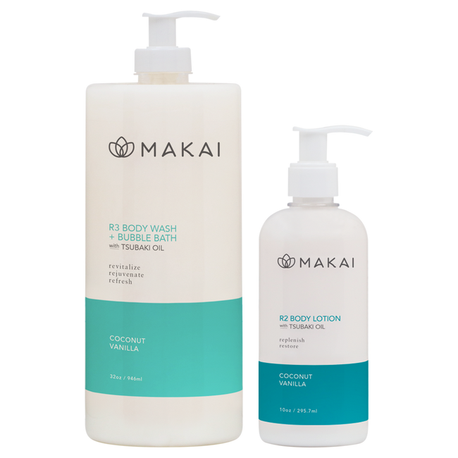 Coconut Vanilla Body Wash w/Tsubaki Oil 32 oz & Lotion 10oz