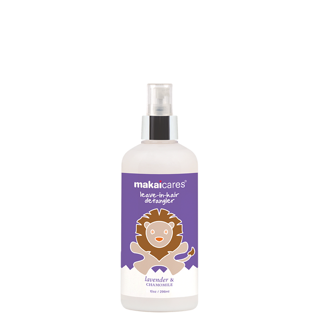 Makaicares' detangler is non-sticky and works to eliminate tangles keeping shine and flexibility. Coconut oil hydrates and protects, while our Lavender Chamomile combination creates a calming experience.