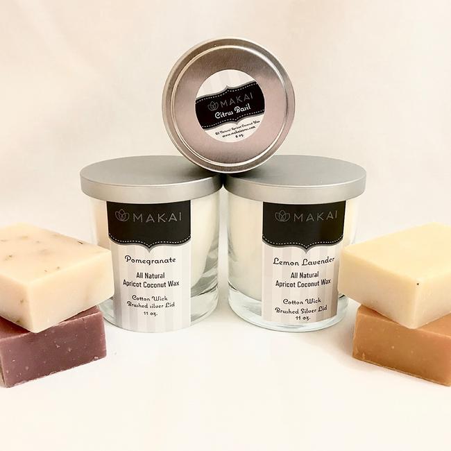 """Sold Out"" All Natural Apricot Coconut Wax Candle  11 oz Tumbler - Lemon Lavender"