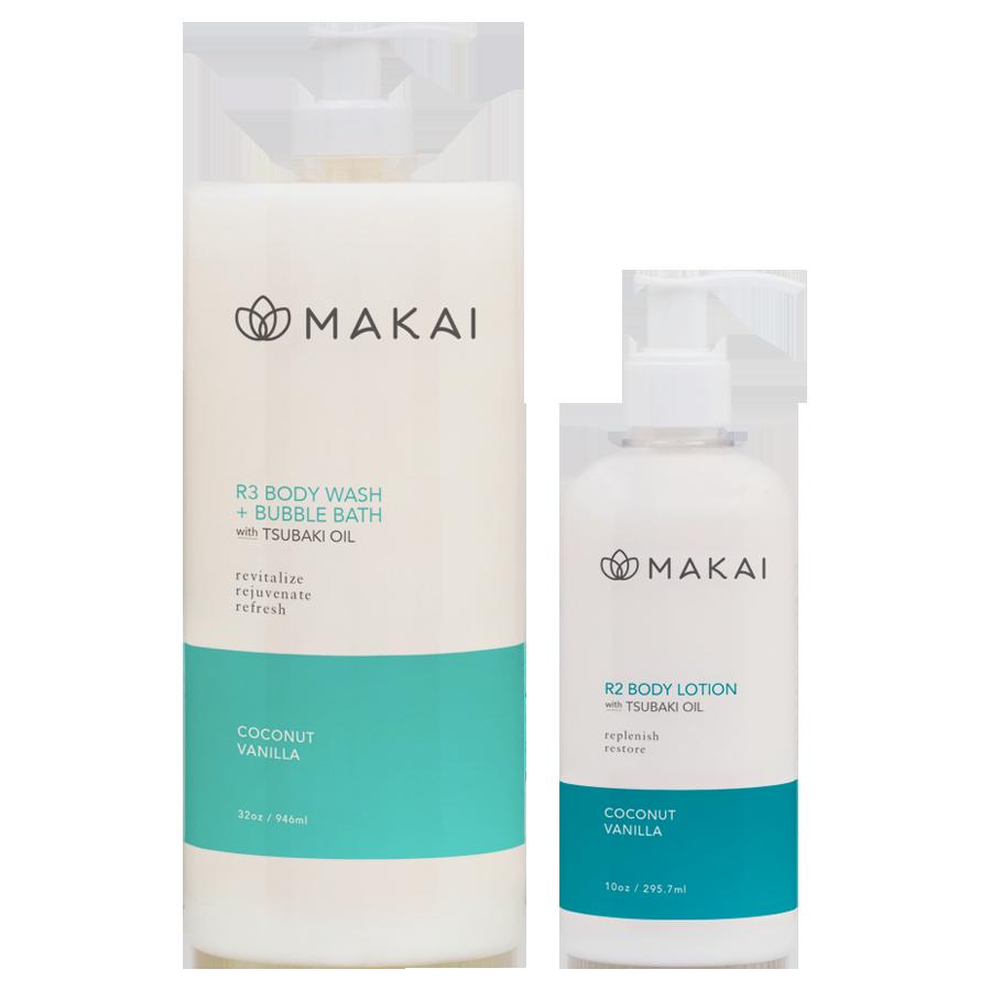 Coconut Vanilla Body Wash w/Tsubaki Oil 32 oz & Lotion 10oz
