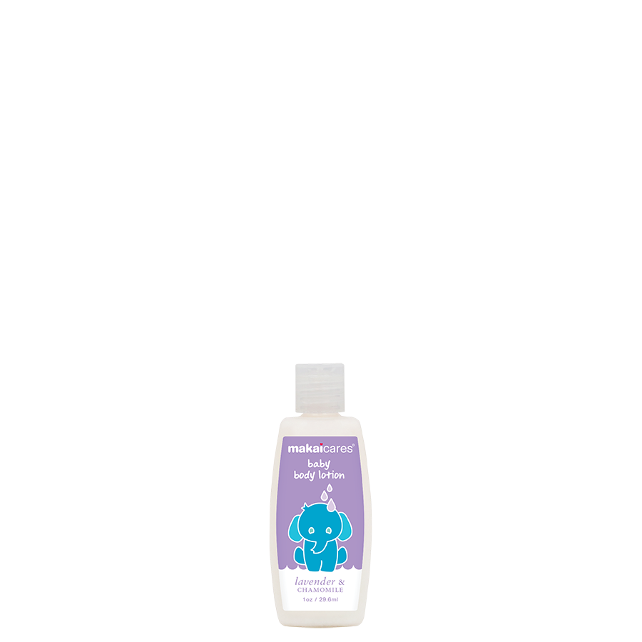 A soothing body lotion of natural ingredients that leaves baby's skin feeling soft and smooth. Created with high quality ingredients such as coconut oil to moisturize and chamomile extract to nourish and relax.