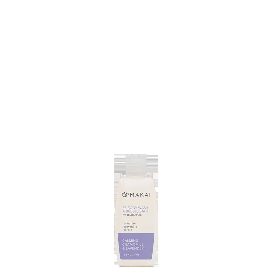 R3 BODYWASH & BUBBLE BATH  1.00 oz MINI - Calming Chamomile Lavender