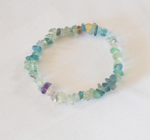 Fluorite Chip Bracelet