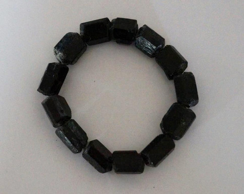 Black Tourmaline - Raw Bracelet