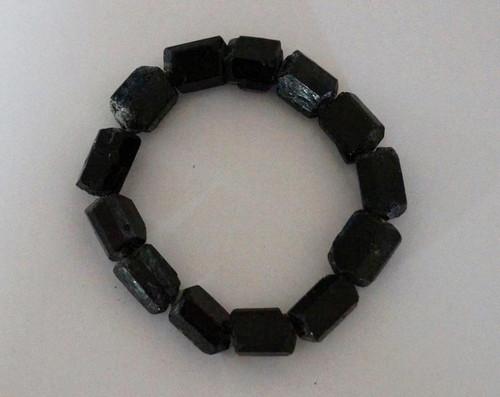 Black Tourmaline - Raw Bracelet