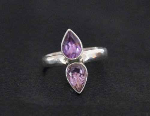 Gorgeous Faceted Amethyst Size 8