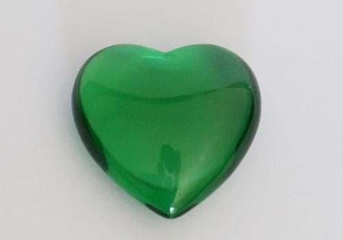 Green Obsidian Heart