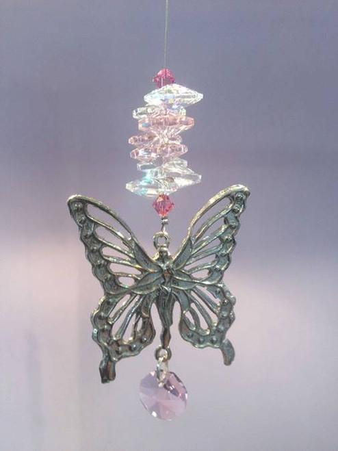 Butterfly Suncatcher - Pink