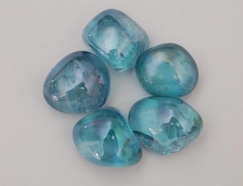 Aqua Aura Tumbled Stone