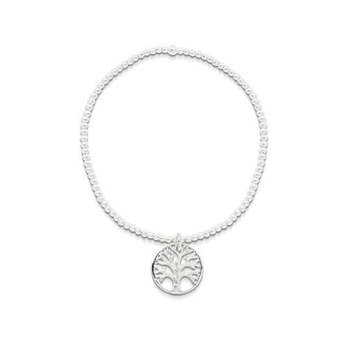 Tree Of Life Charm Ball Bracelet