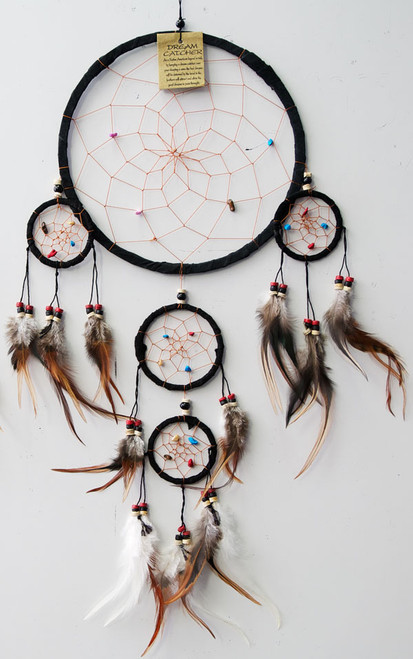 Dream Catcher - Black Suede  Large