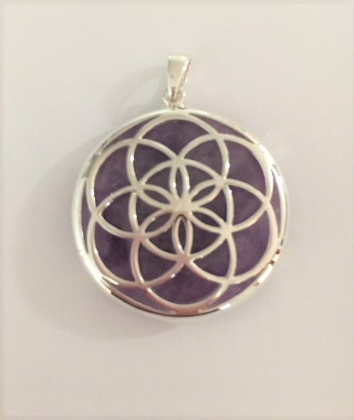 Seed of Life Pendant with Amethyst