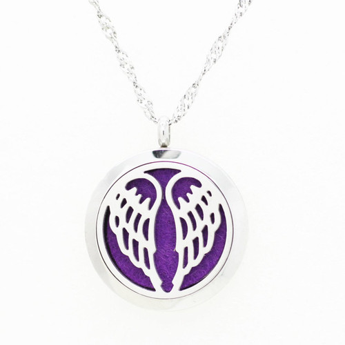Aromatherapy Diffuser Pendant - Angel Wing