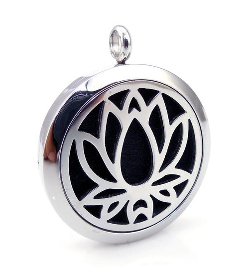 Aromatherapy Diffuser Pendant - Lotus Flower