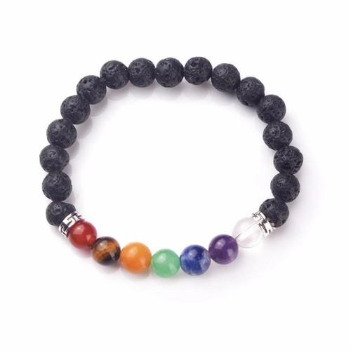 Aromatherapy Chakra Balancing Lava Stone Bracelet