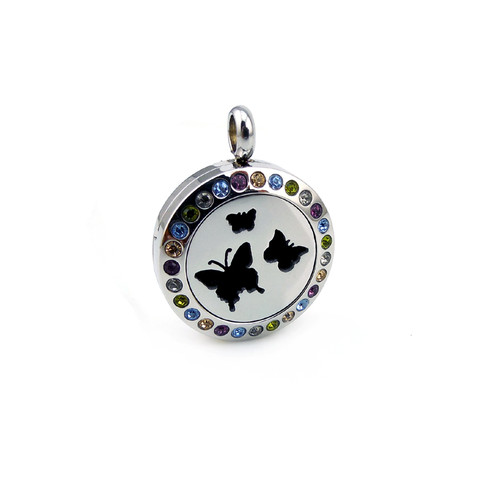 Aromatherapy Diffuser Pendant for KIDS - Butterfly with bling