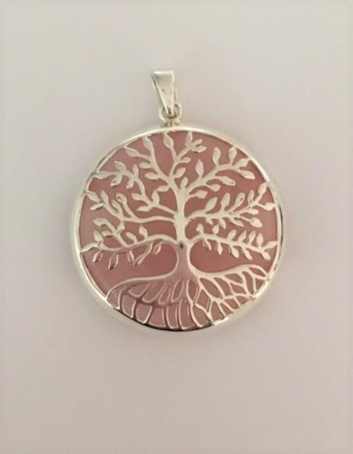Tree of Life with Rose Quartz Pendant