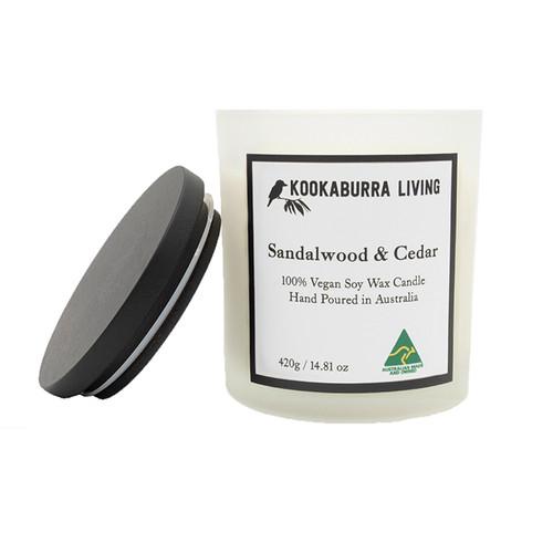 Sandalwood & Cedar Candle