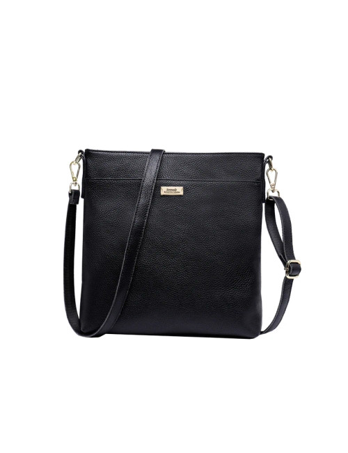 Callie Leather Xbody Bag - Black