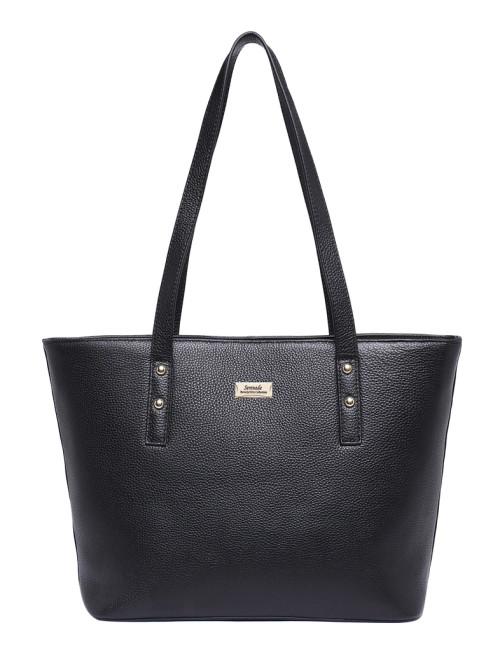 Josephine Leather Tote Bag - Black