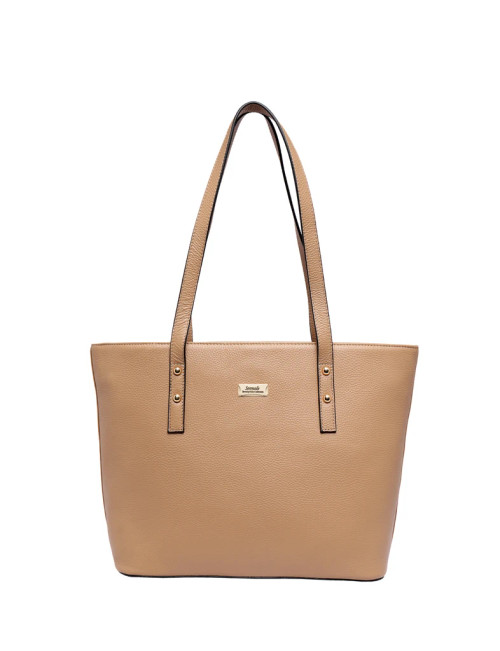 Josephine Leather Tote Bag - Camel