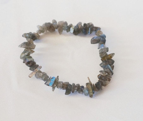 Labradorite Chip Bracelet with beautiful flashes is mystical and magical. Helps reduce stress whilst giving psychic protection.