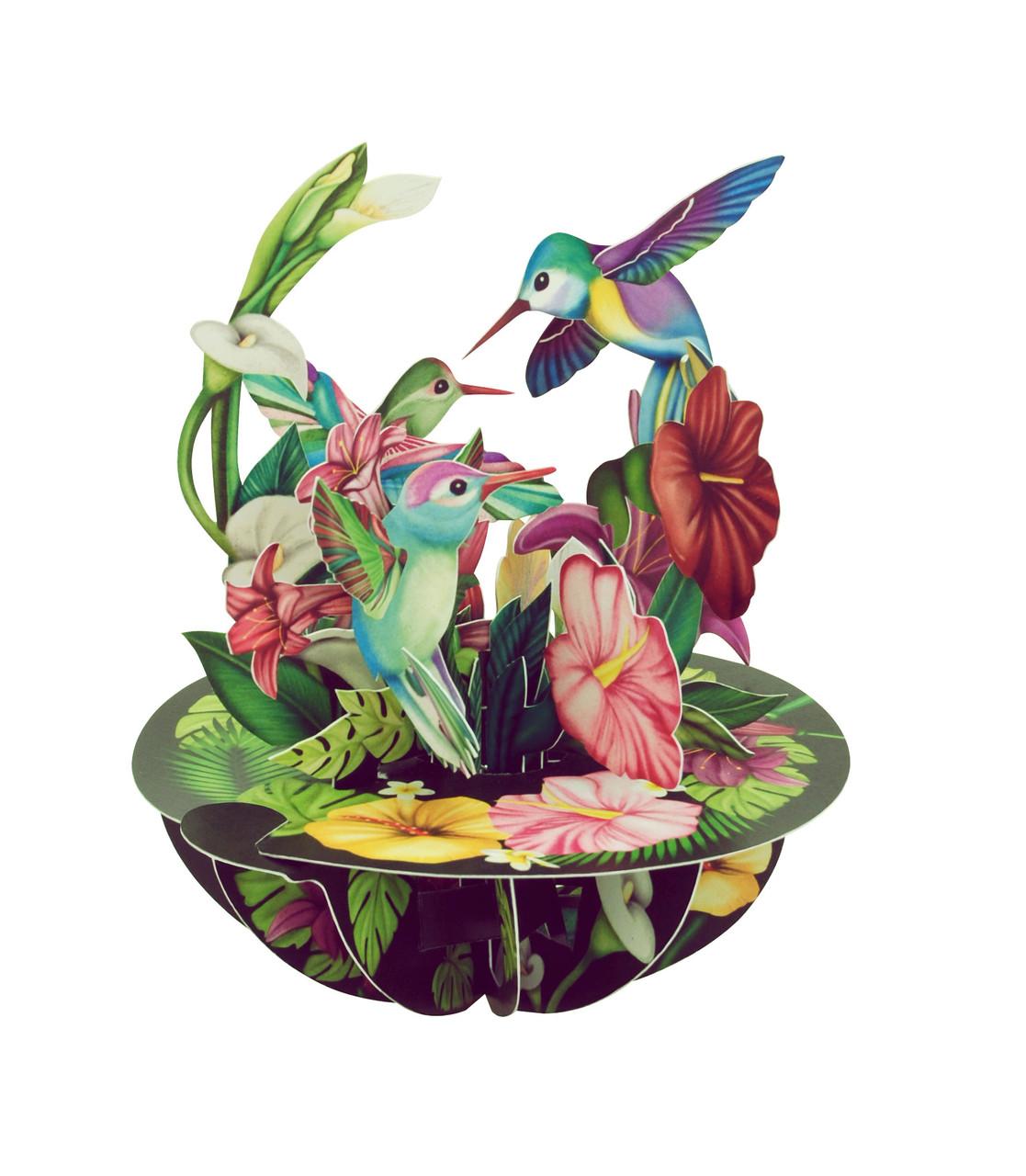 Hummingbirds Santoro Popnrock 3D Greeting Card