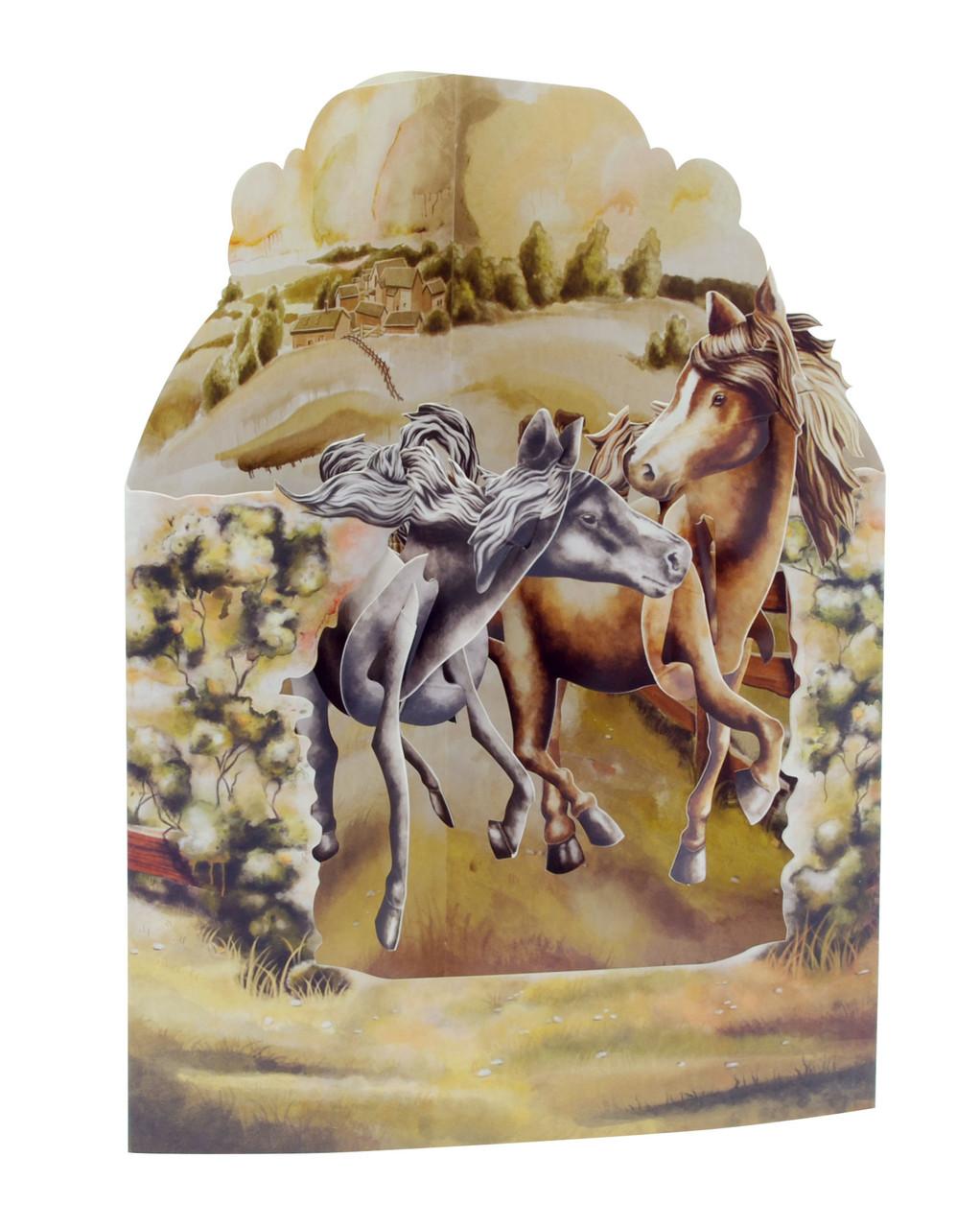 Santoro Swing Cards Horses in the Fields