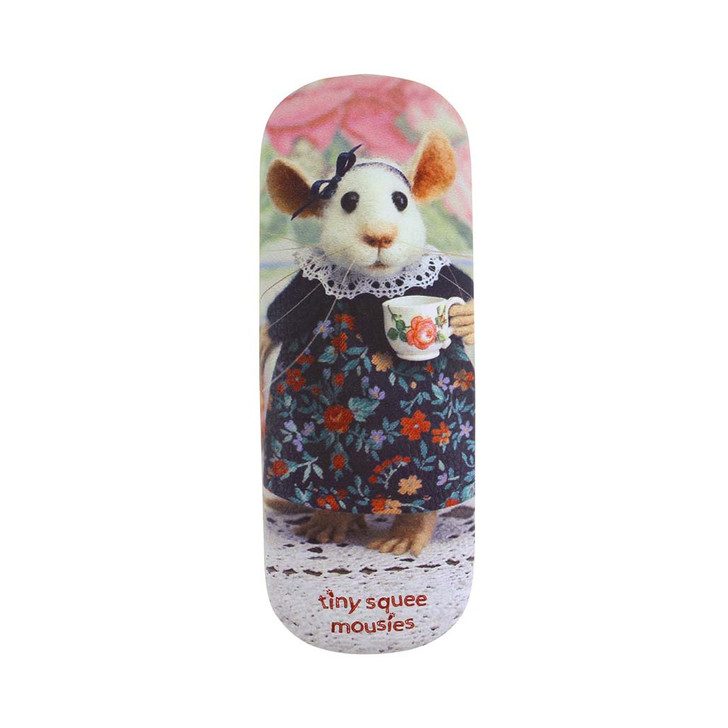 Tiny Squee Mousies - Glasses Case - Acorn Cups Of Sunshine Tea