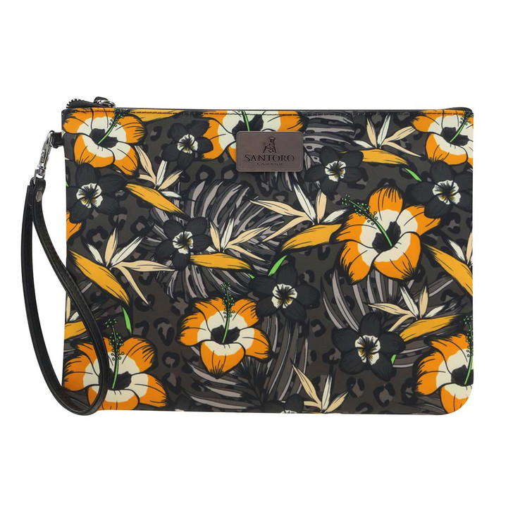 Tropic - Large Accessory Pouch - Gold