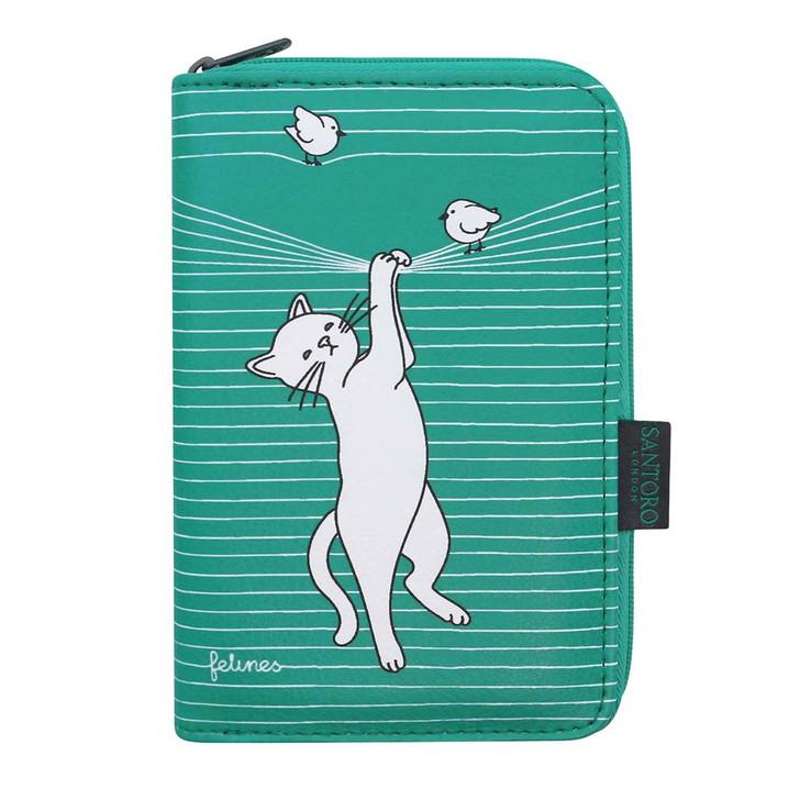 felines - Zip Wallet - Cat In The Act