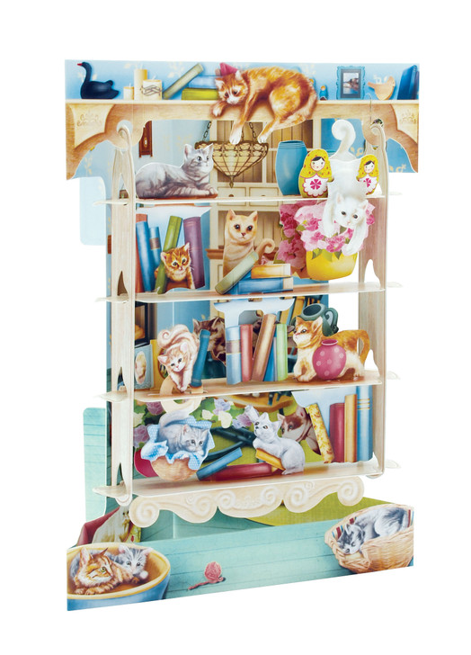Swing Cards - Cats On Bookshelves