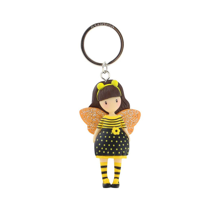 Gorjuss - Moulded Key Ring - Bee-Loved (Just Bee-Cause)