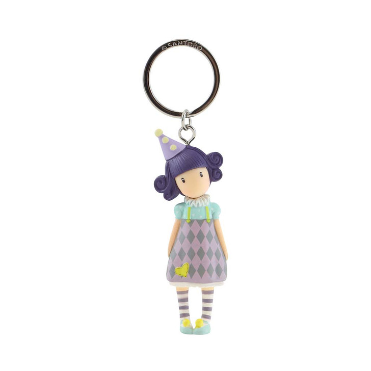 Gorjuss - Moulded Key Ring - Pierrot
