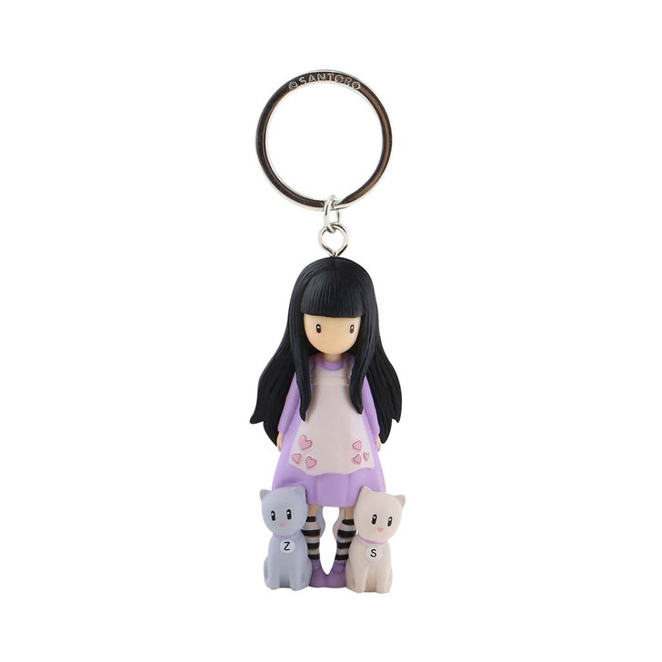 Gorjuss - Moulded Key Ring - Tall Tails