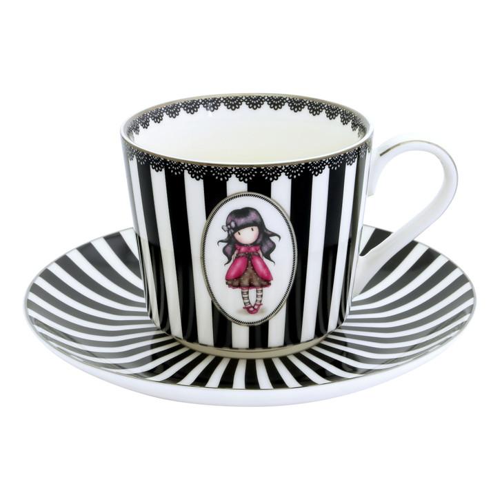 Gorjuss - Tea Cup And Saucer (Set Of 2) - Ladybird, Ruby