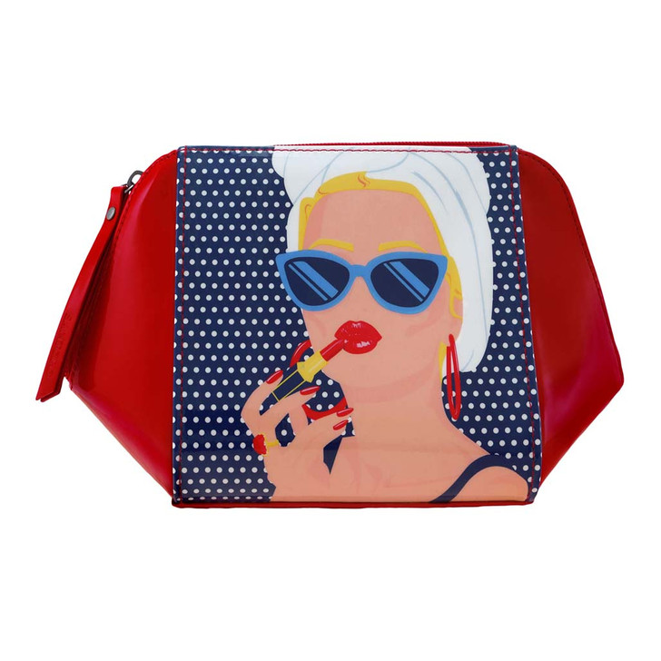 First Class Lounge - Large Structured Accessory Case - Lady Red