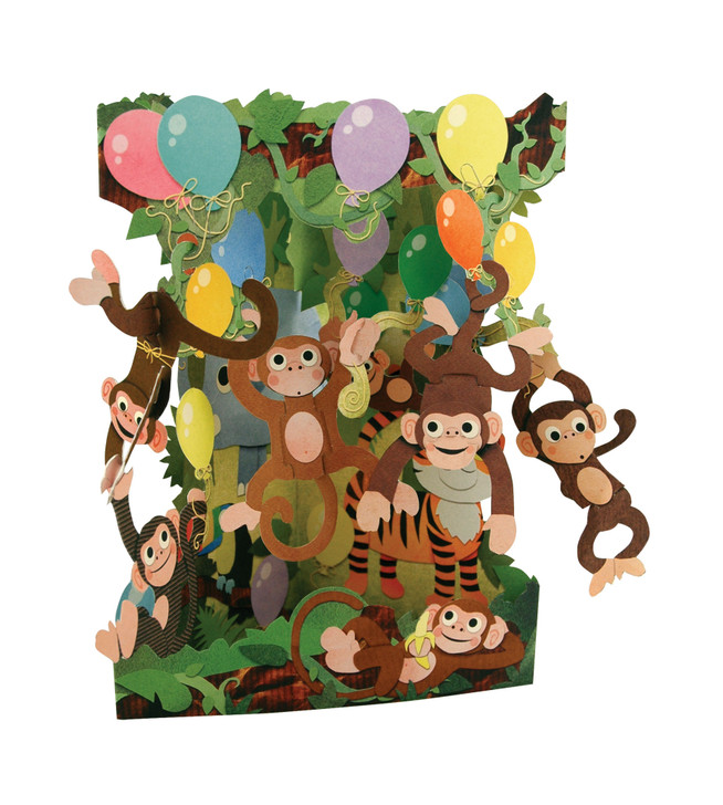 Swing Cards - Monkey Party