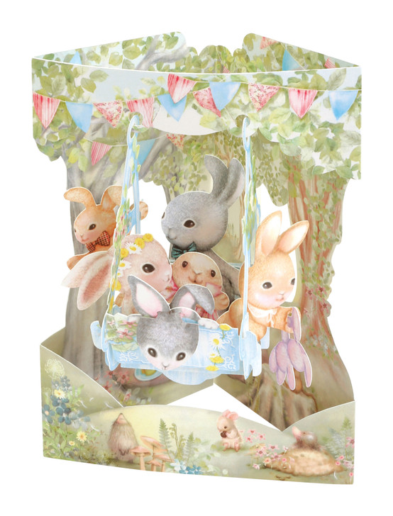 Swing Cards - Rabbits On A Swing Boat