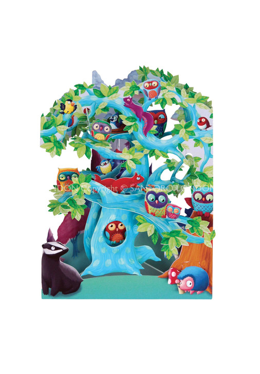 Swing Cards - Woodland Tree Of Birds