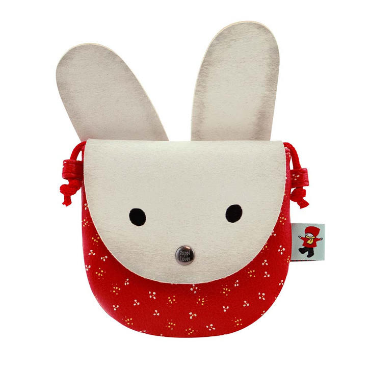 Poppi Loves - Animal Purse - White Bunny