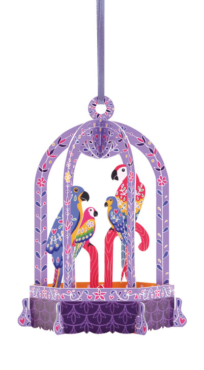 Chandeliers Cards - Birdcage - Macaws