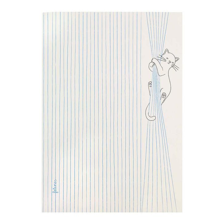 felines - Large Stitched Notebook - Catastrophe