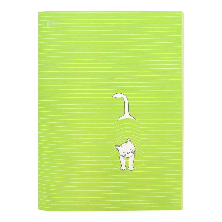 felines - Large Stitched Notebook - Peekat-boo