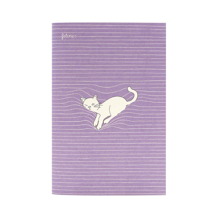 felines - Medium Stitched Notebook - Catnap