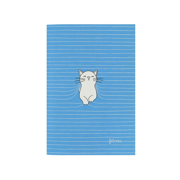 felines - Small Stitched Notebook - Purrrfect Place